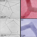 TEM images of branched CdSe nanowires: TEM images of branched CdSe nanowires