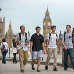 Notre Dame undergraduate students studying in London at the Notre Dame Center