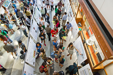 Poster session in the Jordan Hall Galleria