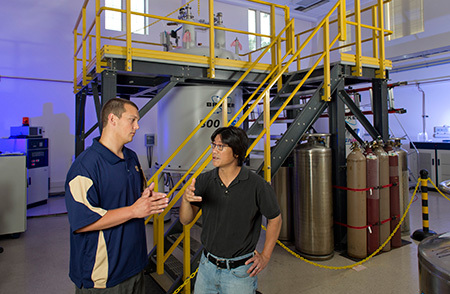 Faculty and Students have direct access to the 800 MHz NMR spectrometer